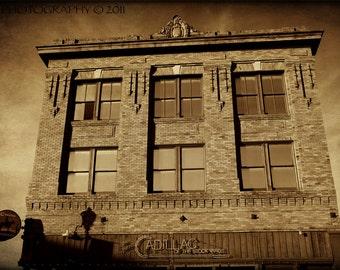 Fort Worth Texas Stockyards Western Fine Art Photograph Rustic Architecture Bar Cadillac