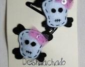Skulls Hairclips
