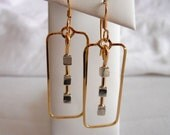 Square Cube Earrings 14K Gold Filled 925 Sterling Silver Cubes - BLACK FRIDAY / Cyber Monday Sale
