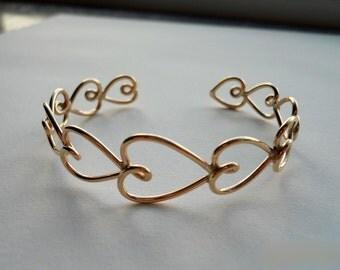 Valentine - Heart Bracelet 14k Gold Filled