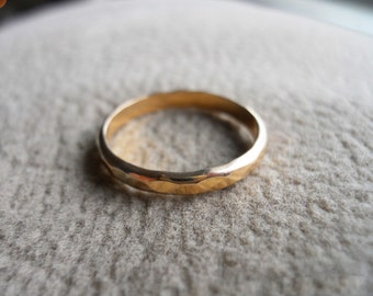 2mm Hammered Band Ring 14K Gold Filled