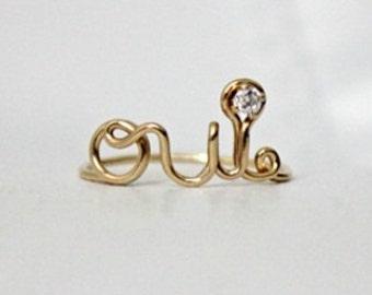 Oui Ring 14k Gold Filled - with Swarovski CZ