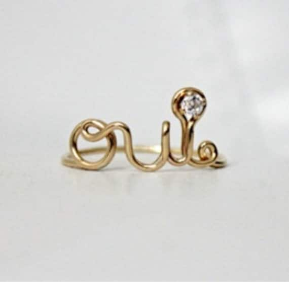Oui Ring 14k Gold Filled - with Swarovski CZ