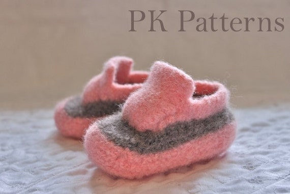 INSTANT DOWNLOAD Knitting PATTERN (pdf file) - Baby Kicks - U.S./Can Infant shoe sizes 2-6