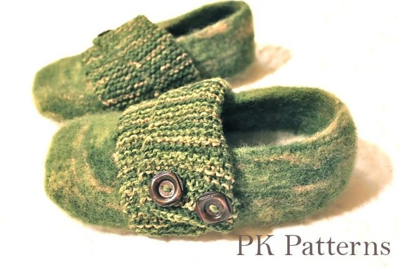 Knitted House Slippers Pattern : INSTANT DOWNLOAD Knitting PATTERN pdf file Trendy Mens
