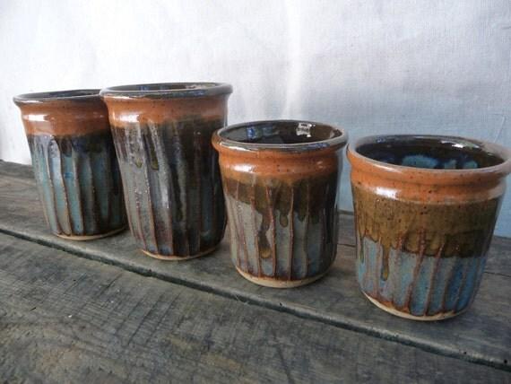 Stoneware Tumblers - Set of 4