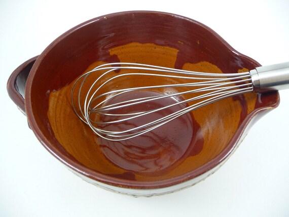 Handmade Ceramic Mixing Bowl / Wheel Thrown Pottery Batter Bowl
