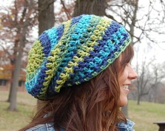 PDF Download Super Easy Crochet Hat PATTERN,  Simple Crochet Slouchy Beanie Adult Hat Pattern