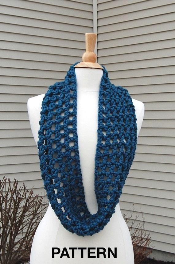 Easy Crochet Infinity Scarf Pattern, Crochet Pattern PDF ...