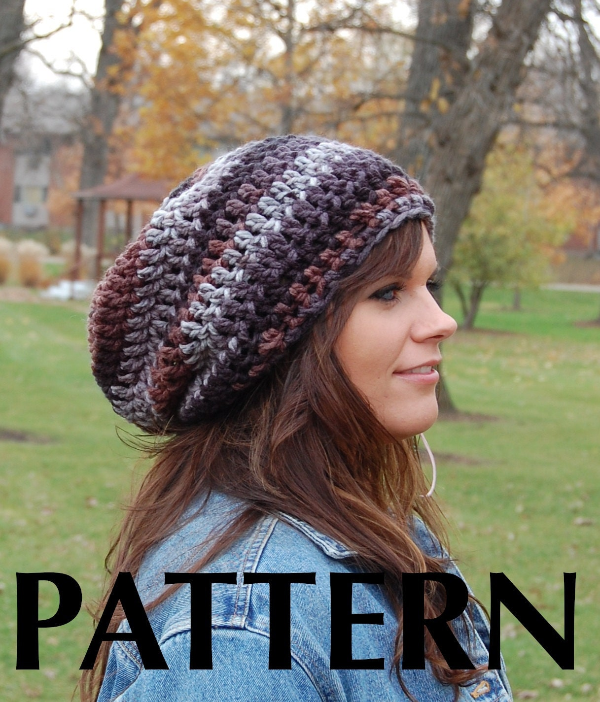 Brimless slouchy beanie crochet pattern super easy crochet hat this is a digital file bankloansurffo Gallery