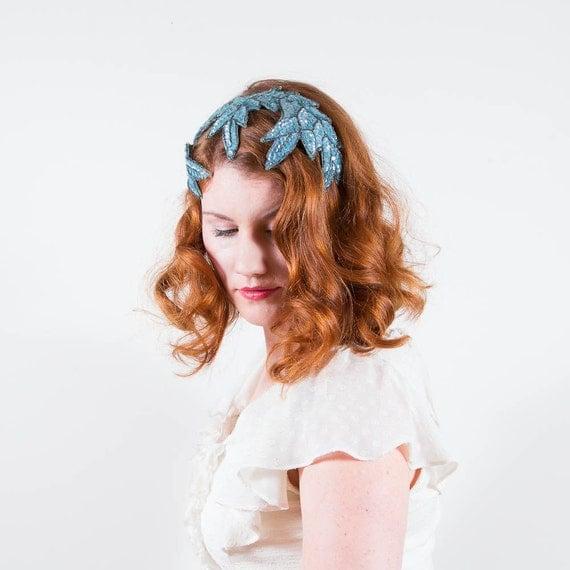 vintage 1950s hat / fascinator / Ice Queen