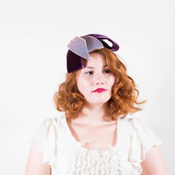 vintage 1940s hat / tilt hat / Blums