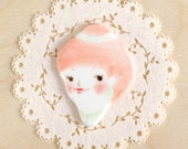 minini hand painted porcelain brooch pin or magnet by min lee 12059