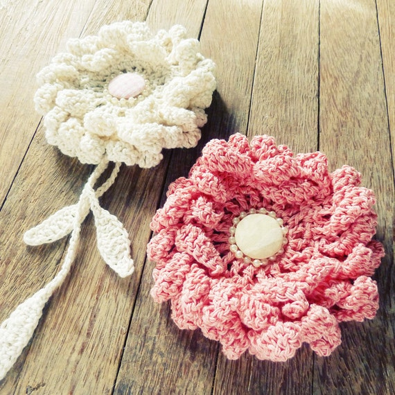 Items similar to Large Flower Crochet Pattern Crochet ...