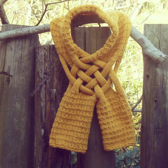 HIM Scarf Knit PDF Pattern Weave PDF ebook how to easy by