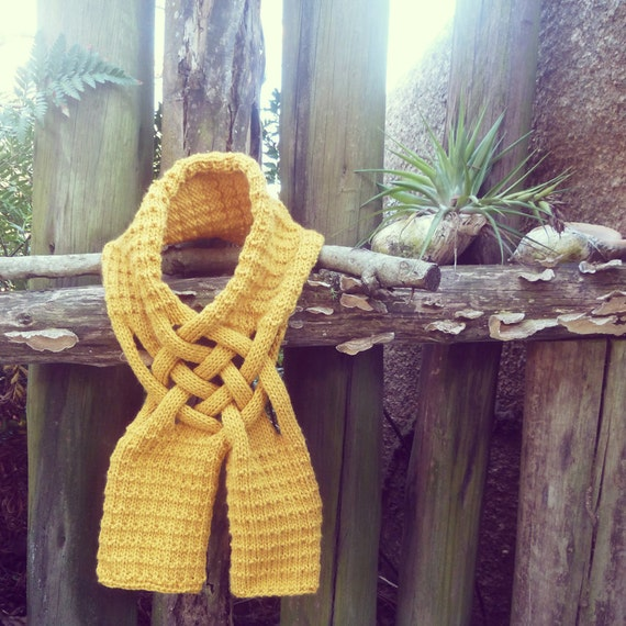 Scarf Pattern Weave Knit PDF - ebook how to easy Knit pattern - man woman winter accessory - Instant Download