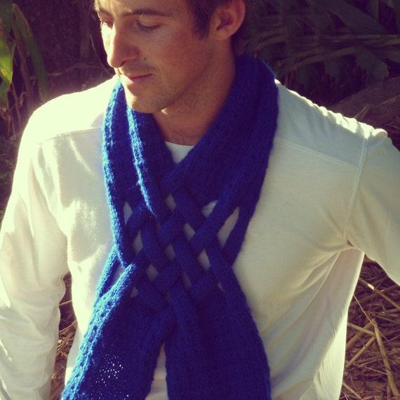 Scarf Knit PDF Pattern Weave neckwarmer - trendy  unique design - UNISEX knitting pattern - Instant Download