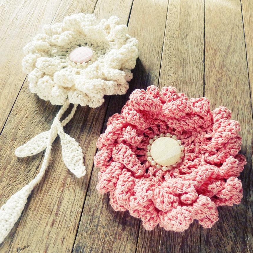Giant Crochet Flower Pattern : Items similar to Large Flower Crochet Pattern Crochet ...