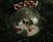Glass Ornament with Horse