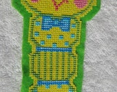Bookworm Cross Stitch Bookmark