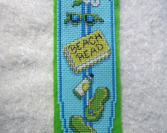 A  Surfboard Cross Stitched Bookmark