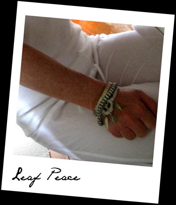 "Bracelet -  ""Leaf Peace"""
