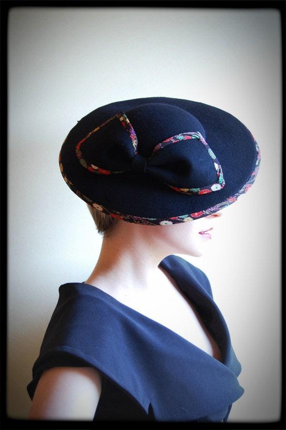 Femme Fatale black Japanese statement hat