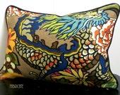 Schumacher Chiang Mai Dragon in Mocha- Pillow Cover