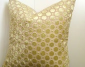"18"" Robert Allen Home Velvet Geo in Citrine- Pillow Cover"
