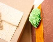 Handmade wedding invitation card - exotic browns