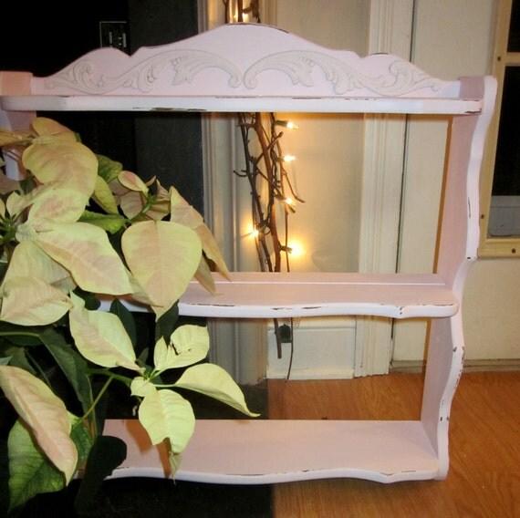 Shabby Scalloped Pink Shelf