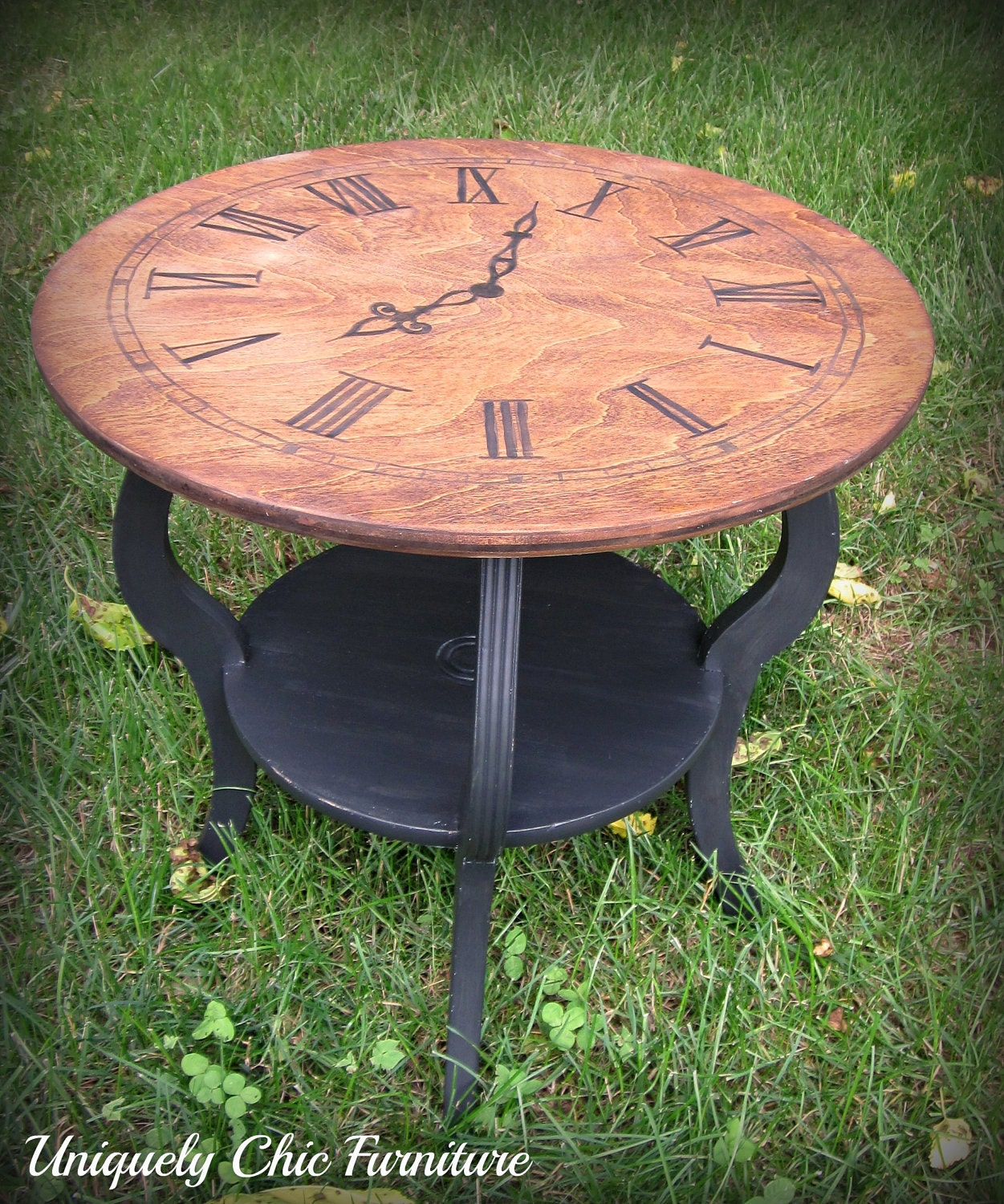 Clock Face Side Table Reserved For Krista