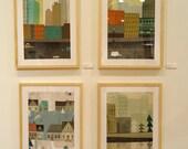 "Harry Rosen Landscapes - series of 4: 14""x20"" prints (unframed)"