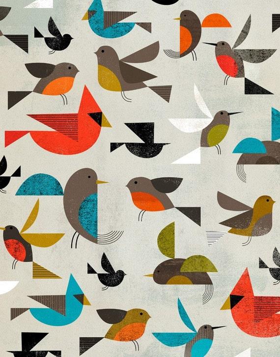 """Birds 16""""x20"""""""