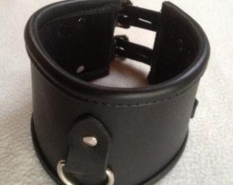 Leather Bondage Posture Collar 4 Inch