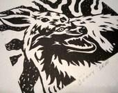 Bunny Skin - Linocut/Relief Print