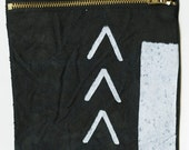 SALE Black and White Pouch 3