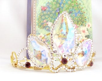 A Tangled Tiara - Rapunzel Tiara Rapunzel Crown Tangled Crown Rapunzel Cosplay Rapunzel Costume - Made to Order