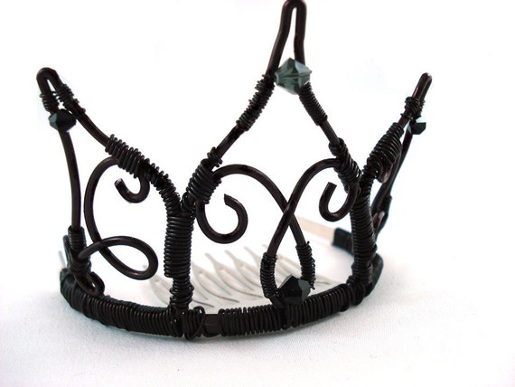 Black Swan Inspired Mini Tiara - Made to Order