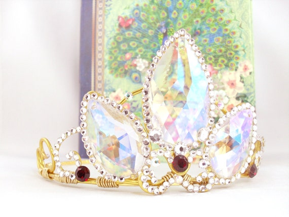 A Tangled Tiara - Rapunzel Tiara Rapunzel Crown Tangled Crown Rapunzel Cosplay Rapunzel Costume - Made to Order