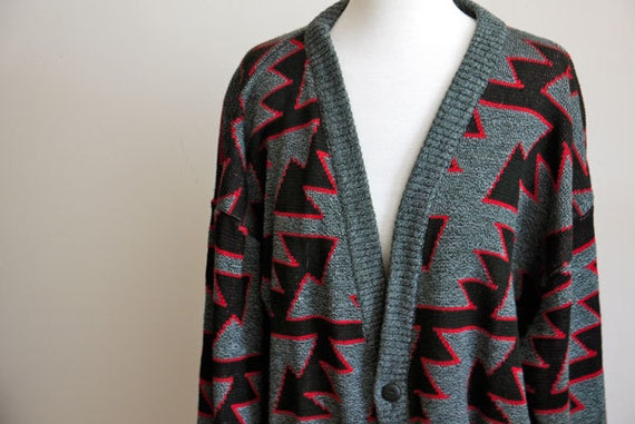 Vintage 90s Cosby Mens Cardigan Sweater
