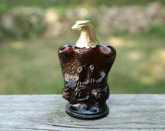 Avon Eagle - After Shave Bottle - Vintage Glass Eagle - Windjammer Scent