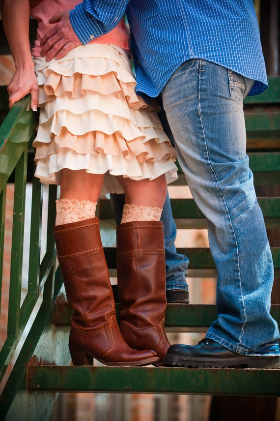 THE ORIGINAL Lace Topped Boot Socks YOU pick color