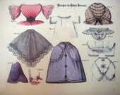 "Antique 1860 Dolly's Dressmaker 18"" Doll PDF E-Patterns 18 inches 45,72 cm"