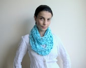 Infinity scarf PDF crochet pattern - circle  lace loop - DIY tutorial - Quick and easy gift