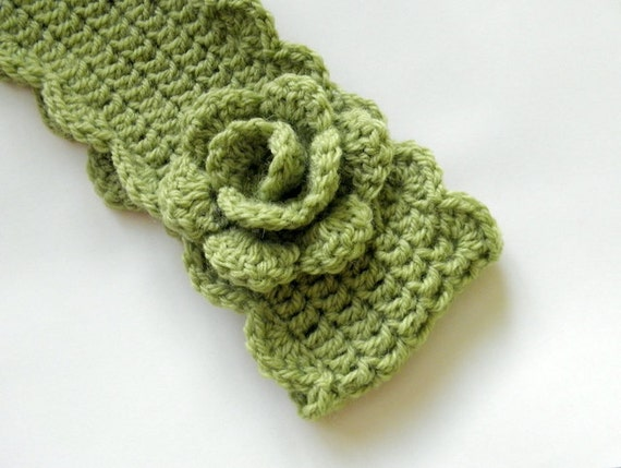 Crochet Pattern headband, crochet earwarmer, woman crochet headband with flower,  retro vintage headband, DIY tutorial PDF