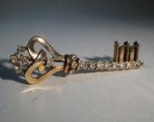 Vintage 1940s Trifari Key Brooch Crown Mark Pin Alfred Philippe