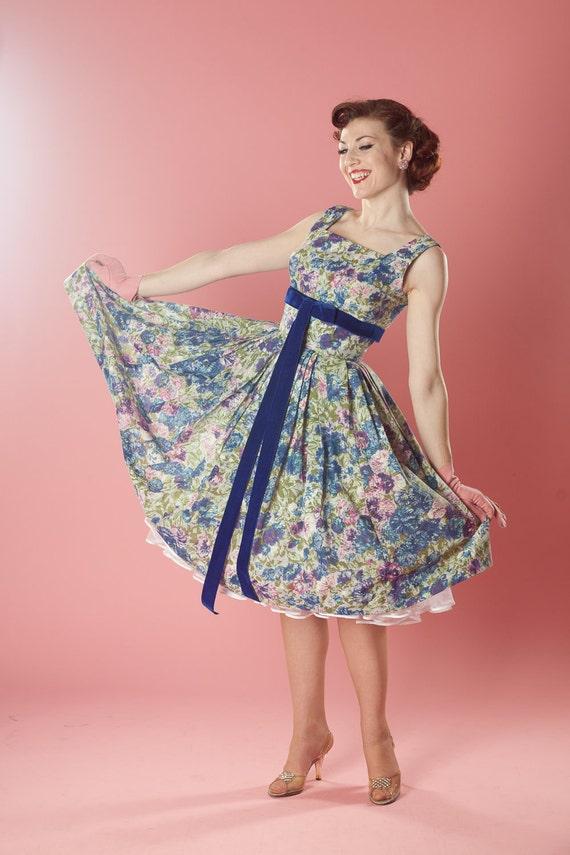 Vintage 1950s Jerry Gilden Dress Bolero Floral Wedding 1960s Spring Fashions