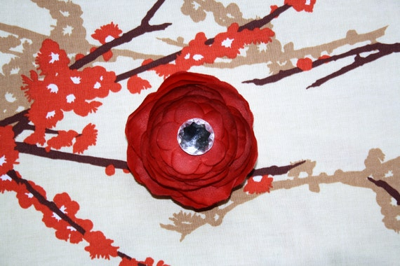M2M flower clip for birds of a feather dress
