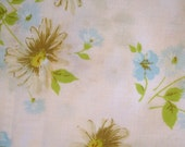 Vintage Floral Full Size (Double) Flat Sheet